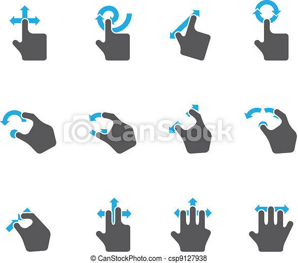 Duotone Icons - Trackpad Gestures - csp9127938