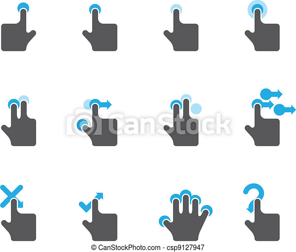 Duotone Icons - Touchpad Gestures - csp9127947