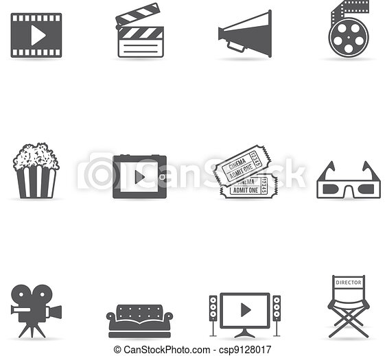Single Color Icons - Movies - csp9128017