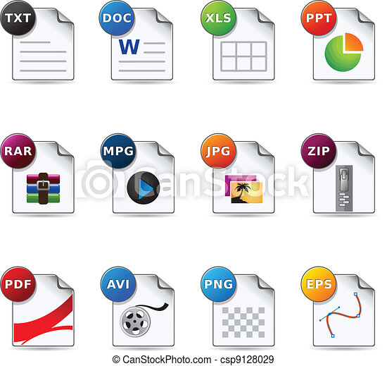 Web Icons - File Formats 4 - csp9128029