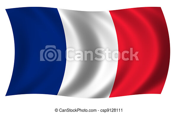 Flag of France in waves - csp9128111