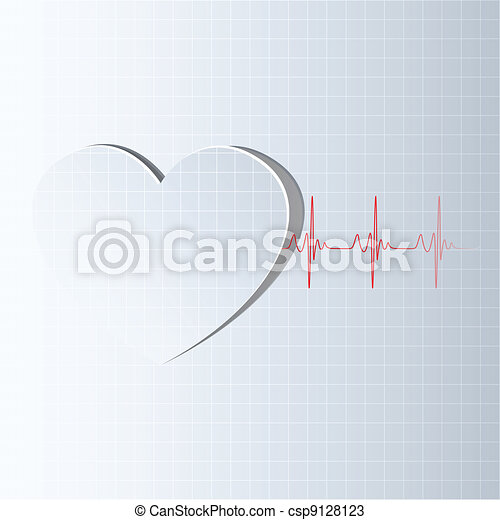 Life Line coming from Heart - csp9128123