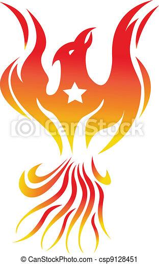 phoenix bird fire - csp9128451