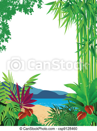 beautiful forest background - csp9128460