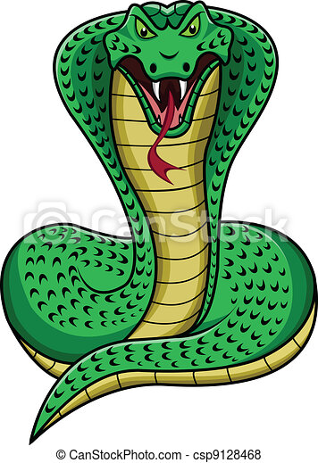 king cobra cartoon - csp9128468