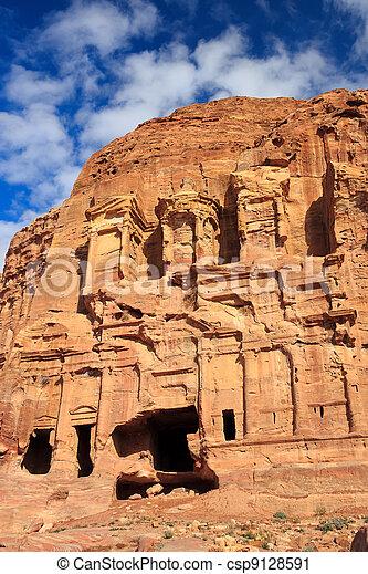 Corinthian Tombs, Petra, Jordan - csp9128591