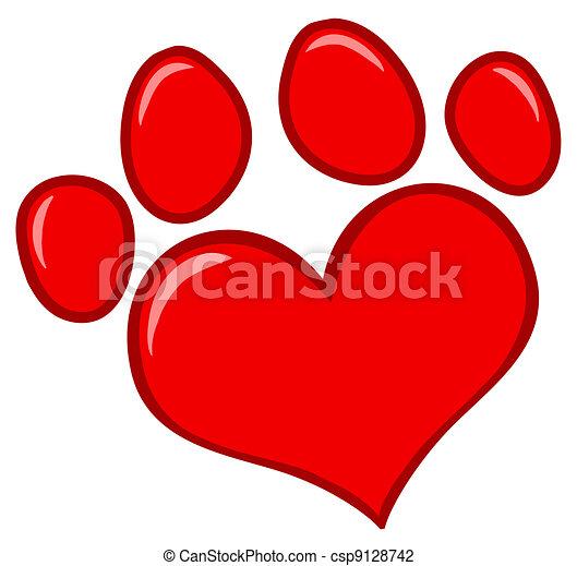 Love Paw Print - csp9128742