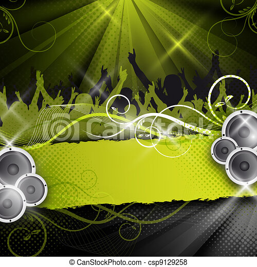 green vector party design - csp9129258