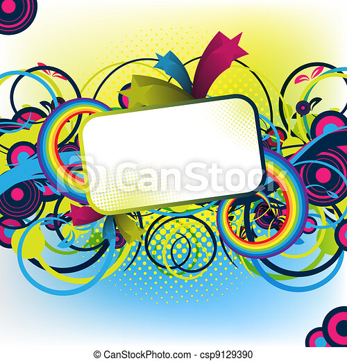 colorful artwork for design - csp9129390