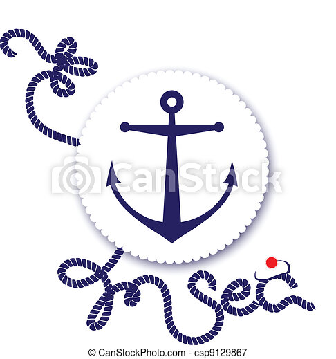Nautical design, anchor - csp9129867