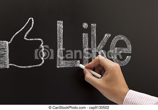 Hand drawing a thumbs up sign - csp9130502
