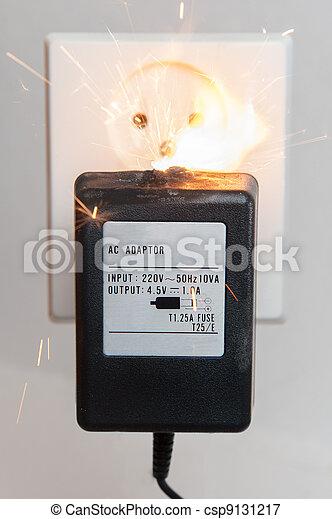 Stock de fotos el ctrico fuego imagenes almacenadas - Transformador electrico precio ...