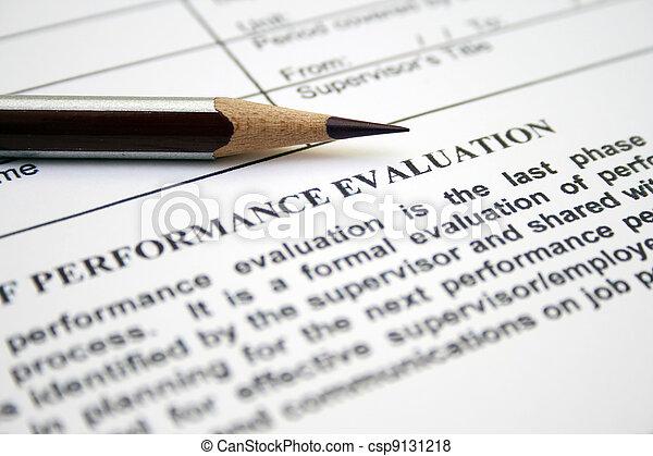 Performance evaluation form - csp9131218