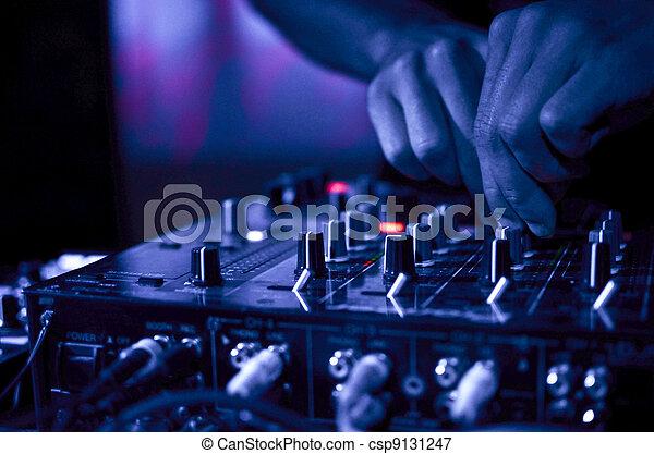 klubba, dj, musik, natt - csp9131247