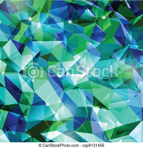 Abstract cyan background. Combination of triangle. Vector - csp9131456