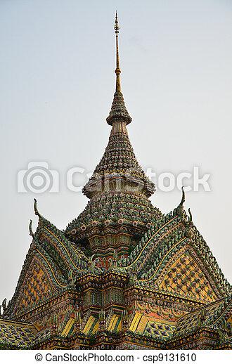 Magnificent Thai Gable Roof - csp9131610