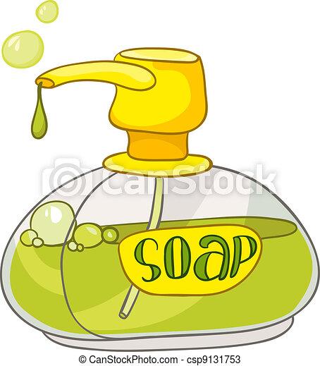 Cartoon Home Washroom Soap - csp9131753
