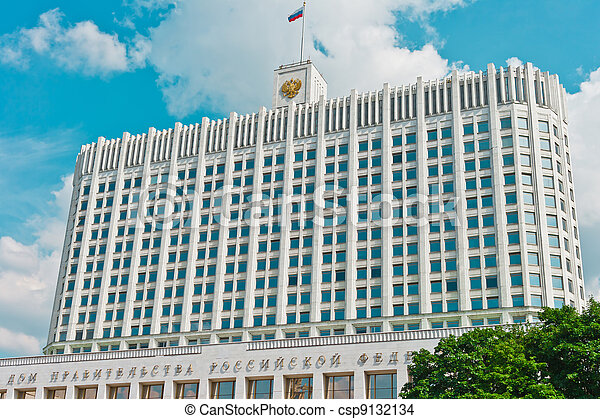 Russian House of Government in Moscow - csp9132134