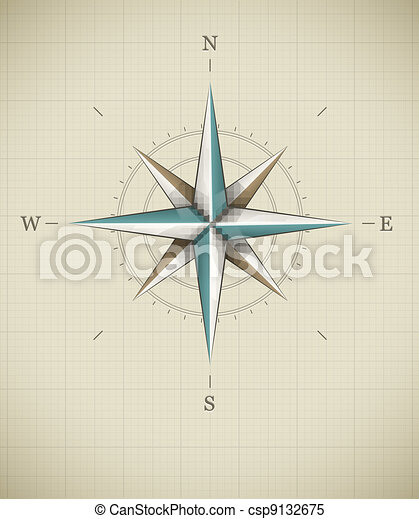 Antique wind rose symbol for navigation - csp9132675