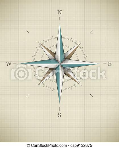 Antique wind rose symbol for navigation - csp9132675