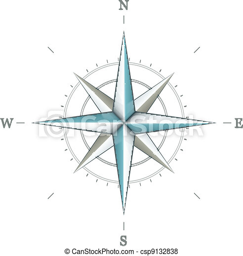 Antique wind rose symbol for navigation - csp9132838