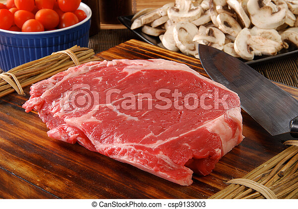 Lean raw rib steak - csp9133003