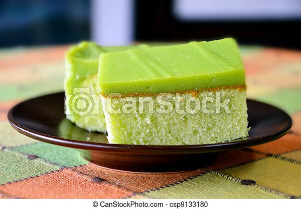 Stock Fotografie von grün, kuchen - besondere, Pandan, kuchen ...