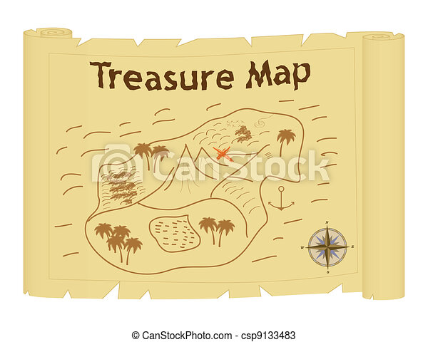 treasure map - csp9133483