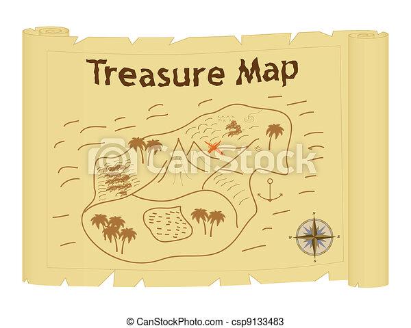 treasure map - csp9133483
