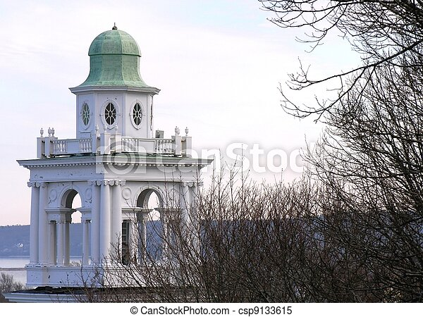 Church steeple at Burial Hill - csp9133615