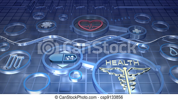 Medicine abstract background - csp9133856