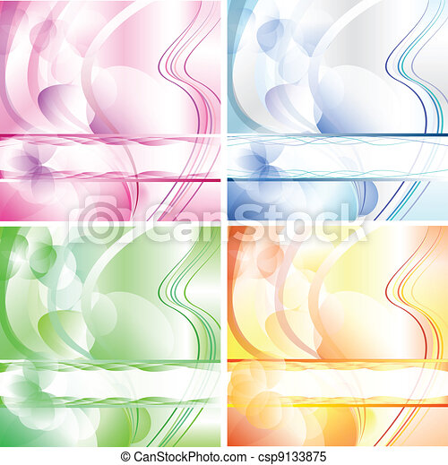 Bubbles wishing card in 4 colours - csp9133875