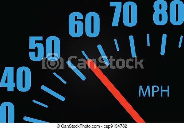 Speedometer Close-up - csp9134782