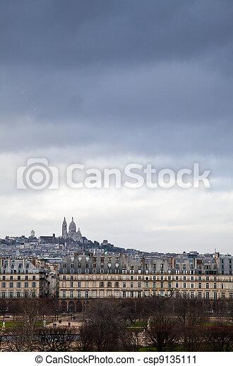 Tempest on Montmartre - csp9135111