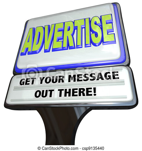 Advertise Sign Outdoor Advertisement Message Store - csp9135440
