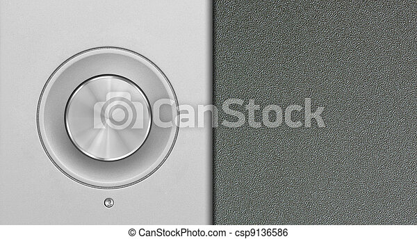 aluminum or silver volume knob button - csp9136586