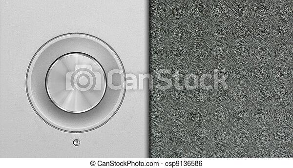 aluminum or silver volume knob button - csp9136586