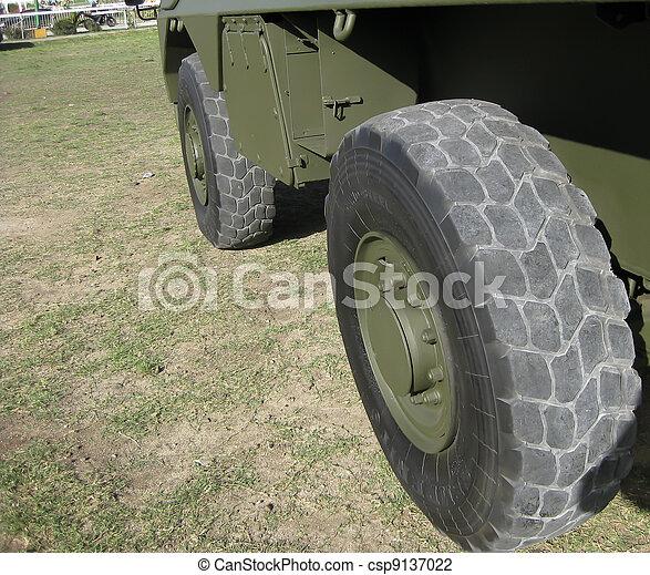 Massive army truck wheel - csp9137022