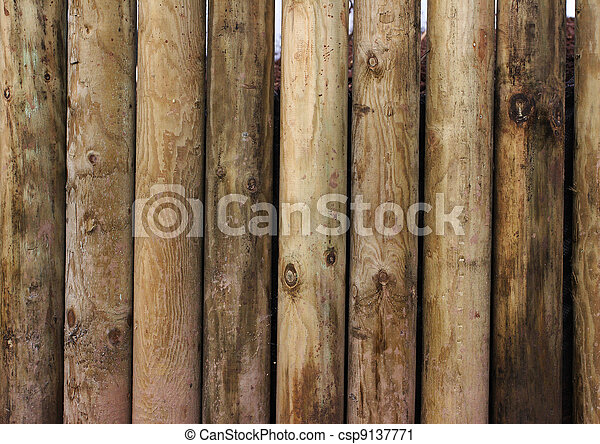 Wooden posts - csp9137771