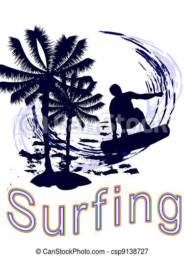 Summertime - surfing - csp9138727