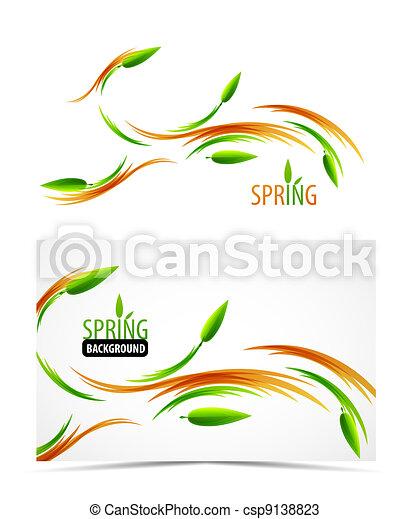 Abstract spring summer waves - csp9138823