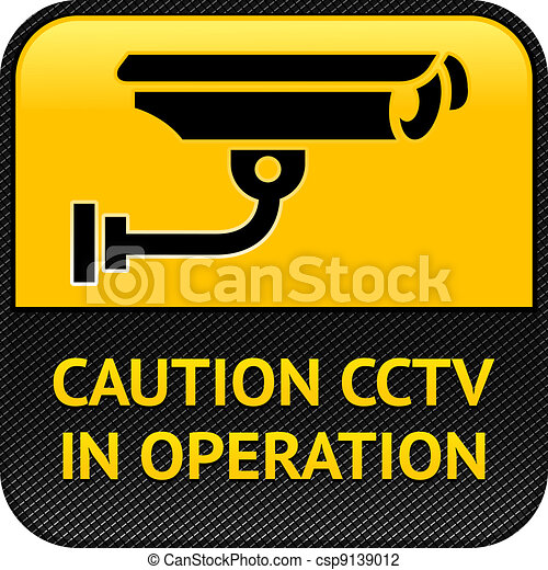 CCTV symbol, pictogram security camera - csp9139012