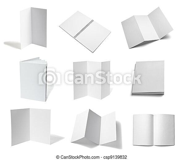 leaflet notebook textbook white bla - csp9139832