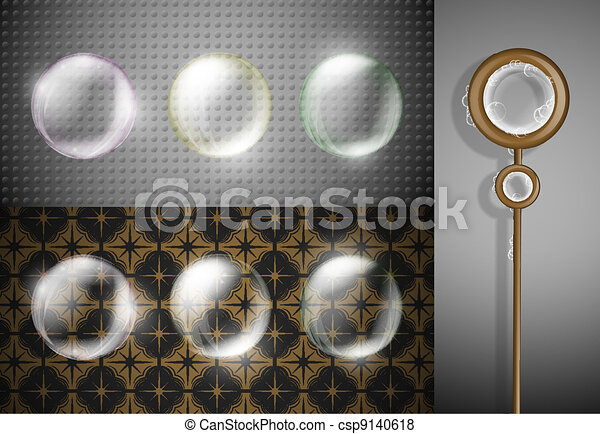 Set of soap bubbles - csp9140618
