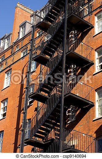 出口, 緊急事件, 樓梯 - csp9140694
