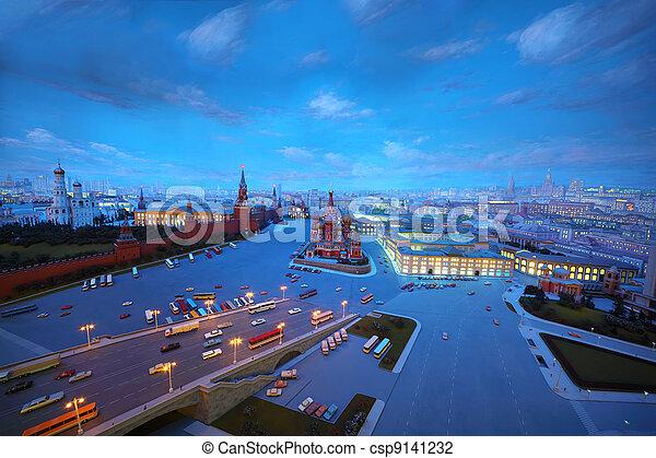MOSCOW - JANUARY 7: Evening diorama