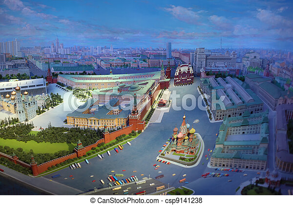 MOSCOW - JANUARY 7: Top view of diorama