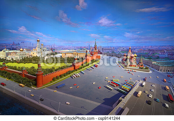 MOSCOW - JANUARY 7: Evening diorama