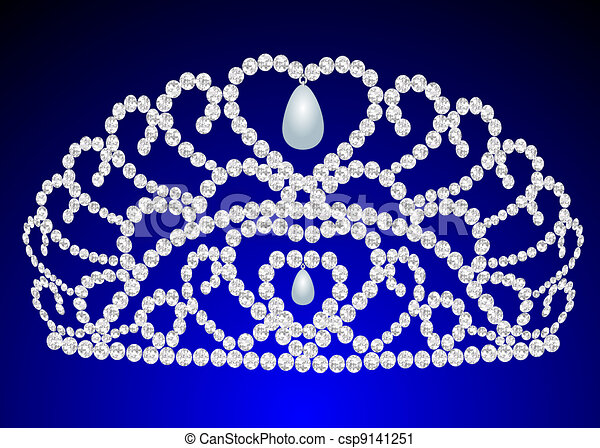 beautiful diadem feminine wedding on we turn blue - csp9141251