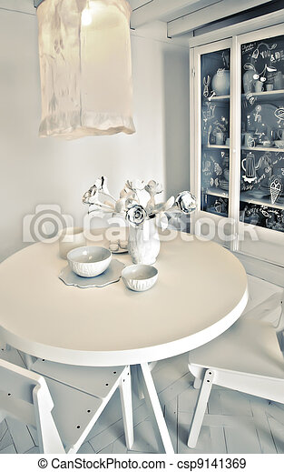stylish  dinner table - csp9141369